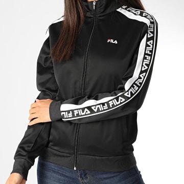 Fila - Veste Zippée Femme A Bandes Tao 687687 Noir