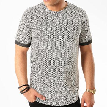 Frilivin - Tee Shirt Oversize 13881 Ecru Noir