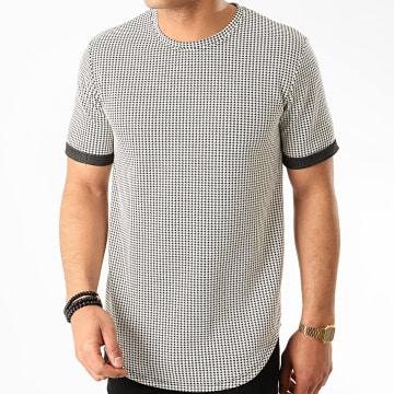 Frilivin - Tee Shirt Oversize 13882 Ecru Noir