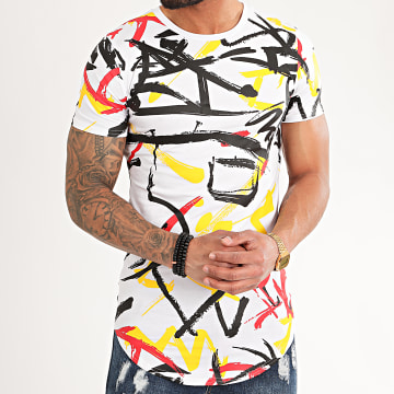 John H - Tee Shirt Oversize A086 Blanc