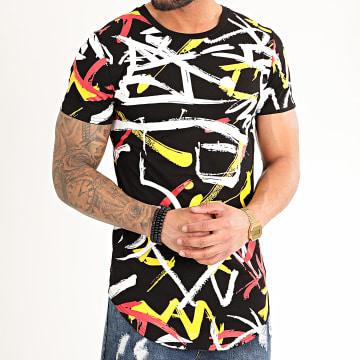 John H - Tee Shirt Oversize A086 Noir