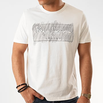 Pepe Jeans - Tee Shirt Billy PM506908 Ecru