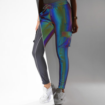 Project X - Pantalon Jogging Femme F204071 Gris Réfléchissant