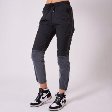 Project X - Pantalon Jogging Femme F204074 Noir Réfléchissant