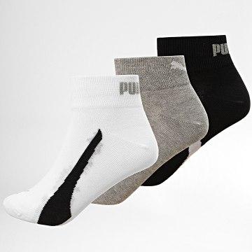 Puma - Lot De 3 Paires De Chaussettes Noir Blanc Gris