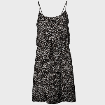 Vero Moda - Robe Femme 10227824 Beige Noir
