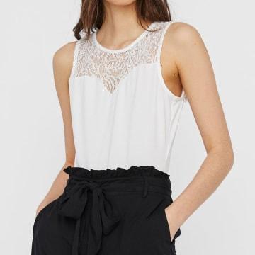 Vero Moda - Body Femme 10230034 Blanc