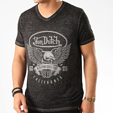 Von Dutch - Tee Shirt Bird Gris Anthracite