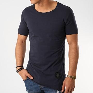 Zelys Paris - Tee Shirt Oversize Staf Bleu Marine