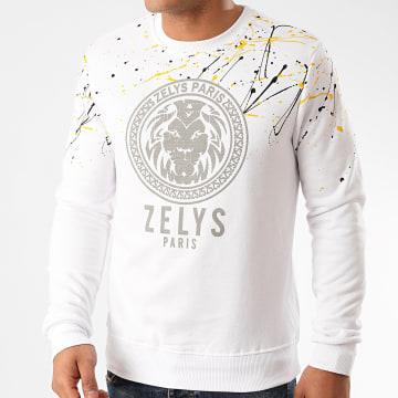 Zelys Paris - Sweat Crewneck Osquad Blanc Réfléchissant