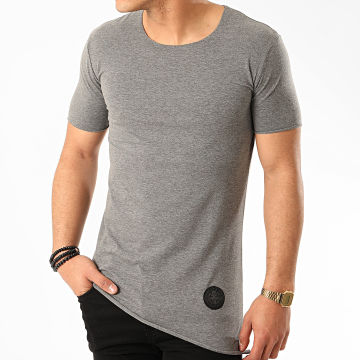 Zelys Paris - Tee Shirt Oversize Staf Gris Chiné