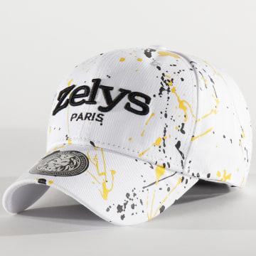 Zelys Paris - Casquette Speckle Blanc Jaune