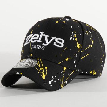 Zelys Paris - Casquette Speckle Noir Jaune