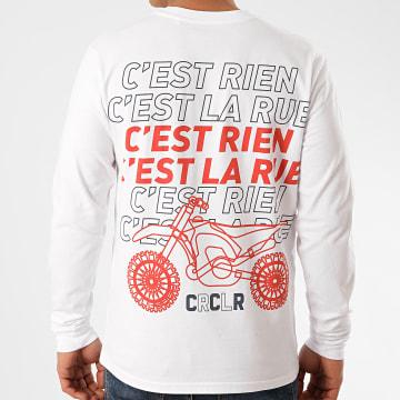C'est Rien C'est La Rue - Tee Shirt Manches Longues Dirt Bike Blanc