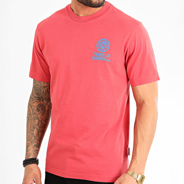 Franklin And Marshall - Tee Shirt JM3001-1001G10 Rouge Clair