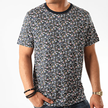Jack And Jones - Tee Shirt Oversize James Bleu Marine Floral