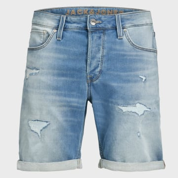 Jack And Jones - Short Jean Rick Icon Bleu Denim
