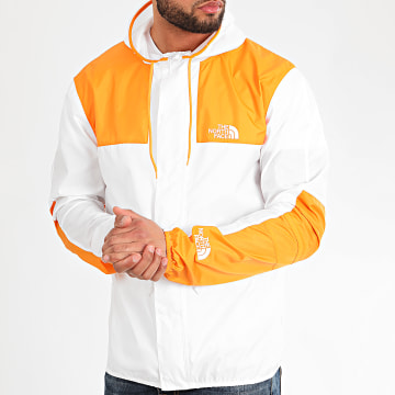 The North Face - Coupe-Vent Capuche 1985 Mountain CH37 Blanc Orange