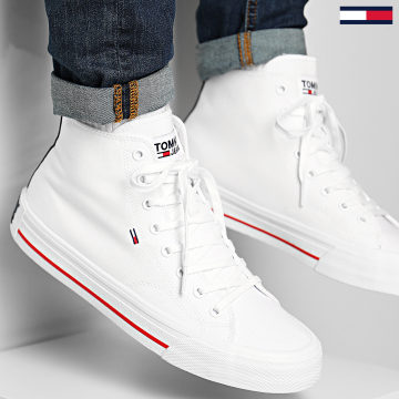 Tommy Jeans - Baskets Classic Mid 0402 Blanc