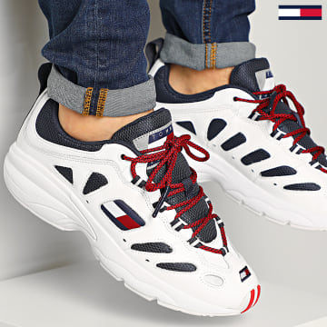 Tommy Jeans - Baskets Heritage Retro Sneaker 0404 Red White Blue