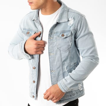 Zayne Paris  - Veste Jean VS3 Bleu Wash