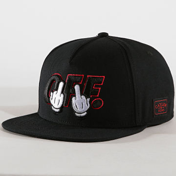 Cayler And Sons - Casquette Snapback Seriously Noir Rouge
