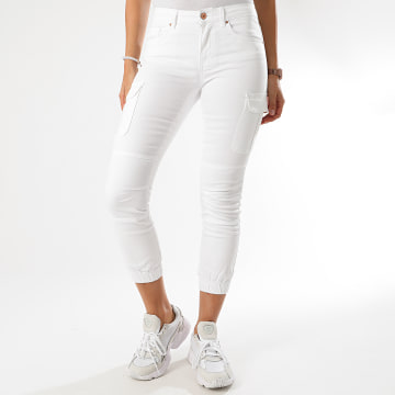 Only - Jogger Pant Slim Femme 15170889 Blanc