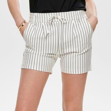 Only - Short Femme Poptrash 15179977 Blanc