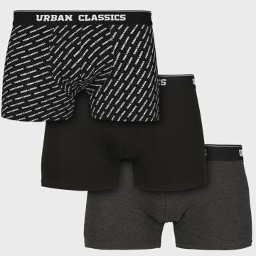Urban Classics - Lot De 3 Boxers TB3540 Noir Gris Anthracite