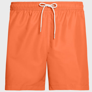 Calvin Klein - Short De Bain A Bandes Medium Drawstring 0434 Orange