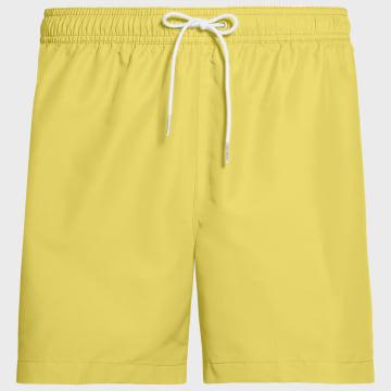 Calvin Klein - Short De Bain A Bandes Medium Drawstring 0434 Jaune