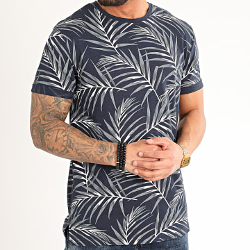 Only And Sons - Tee Shirt 22016762 Bleu Marine Floral