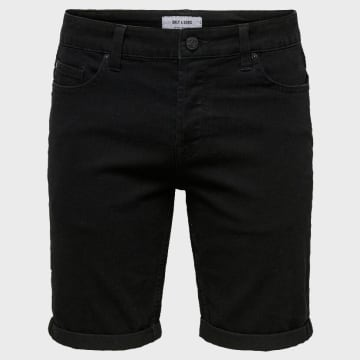 Only And Sons - Short Jean Slim Onsply 22015139 Noir