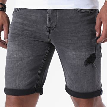 Only And Sons - Short Jean Regular Ply Gris