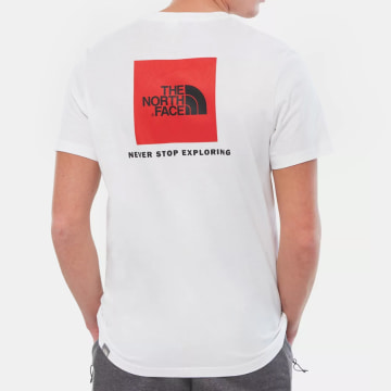 The North Face - Tee Shirt Red Box Cel Blanc