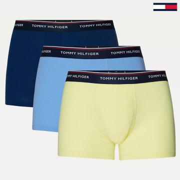 Tommy Hilfiger - Lot De 3 Boxers 3842 Bleu Ciel Jaune Vert