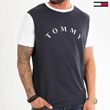 Tommy Hilfiger - Tee Shirt CN Logo 1785 Bleu Marine Blanc