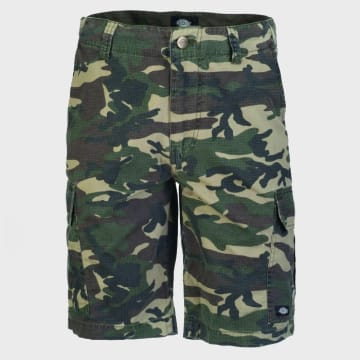 Dickies - Short Cargo New York City Camouflage Vert Kaki