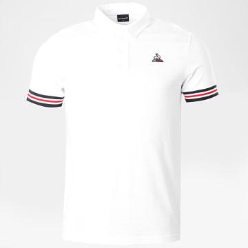 Le Coq Sportif - Polo Manches Courtes Tricolore Pronto No1 Ecru