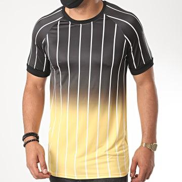 Aarhon - Tee Shirt 13871 Dégradé Noir Jaune