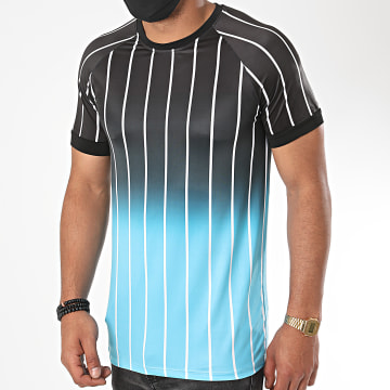 Aarhon - Tee Shirt 13871 Dégradé Noir Bleu