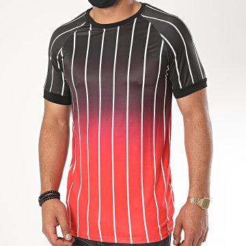 Aarhon - Tee Shirt 13871 Dégradé Noir Rouge