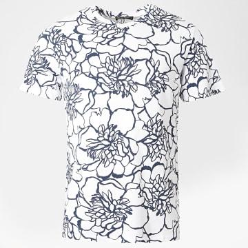 Aarhon - Tee Shirt 19-009A Blanc Bleu