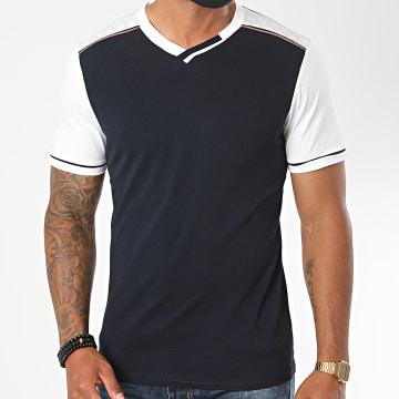 Armita - Tee Shirt Col V TV-562 Bleu Marine