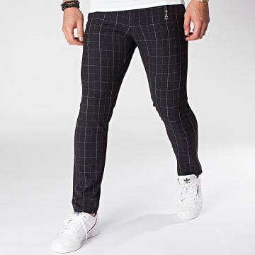 Armita - Pantalon Chino A Carreaux PAK-409 Noir