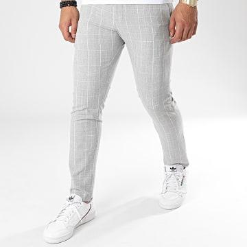Armita - Pantalon Chino A Carreaux PAK-409 Gris Chiné