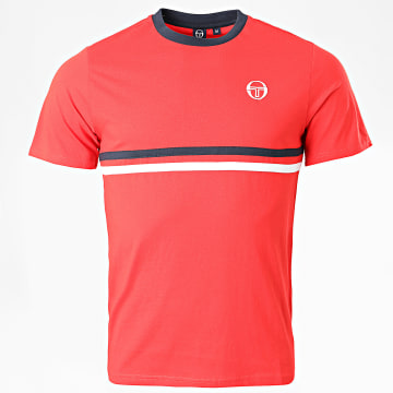Sergio Tacchini - Tee Shirt A Bandes Friday Rouge