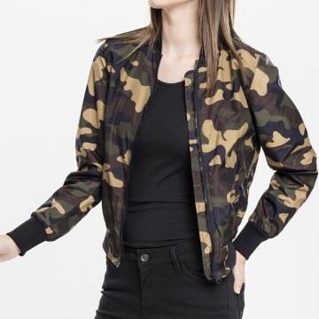 Urban Classics - Veste Zippée Femme TB1627 Vert Kaki Camouflage