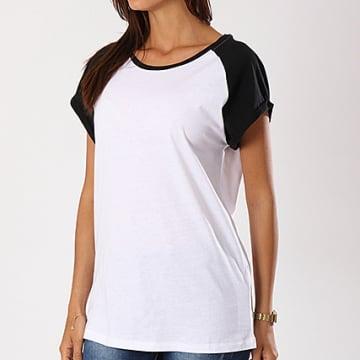 Urban Classics - Tee Shirt Oversize Femme TB1913 Blanc Noir
