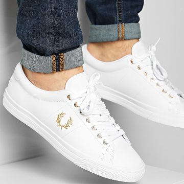 Fred Perry - Baskets Underspin Leather B8288 White